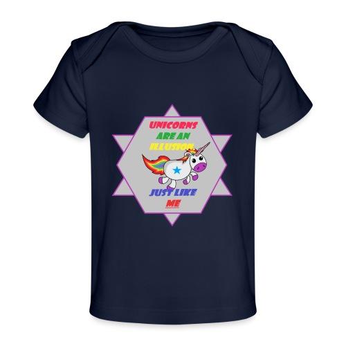 Unicorn with joke - Organic Baby T-Shirt