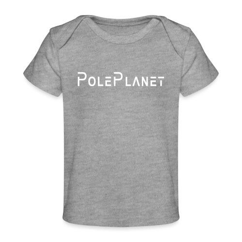 Schrift weiss horizontal - Baby Bio-T-Shirt