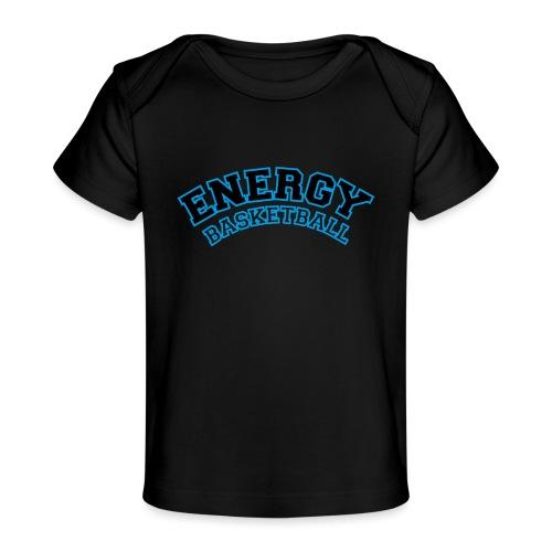 baby energy basketball logo nero - Maglietta ecologica per neonato