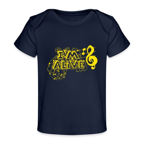 i m alive geel png - Baby bio-T-shirt
