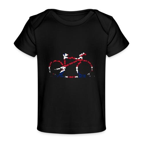 GB Cycling Chain Print - Organic Baby T-Shirt