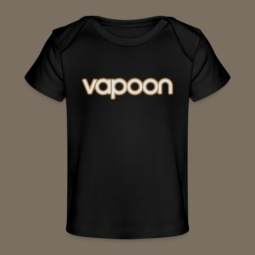 Vapoon Logo simpel 2 Farb - Baby Bio-T-Shirt