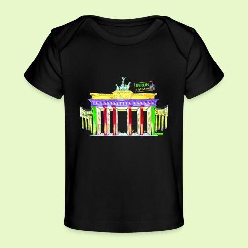 Berlin/Brandenburger Tor/PopArt/BerlinLightShow - Baby Bio-T-Shirt