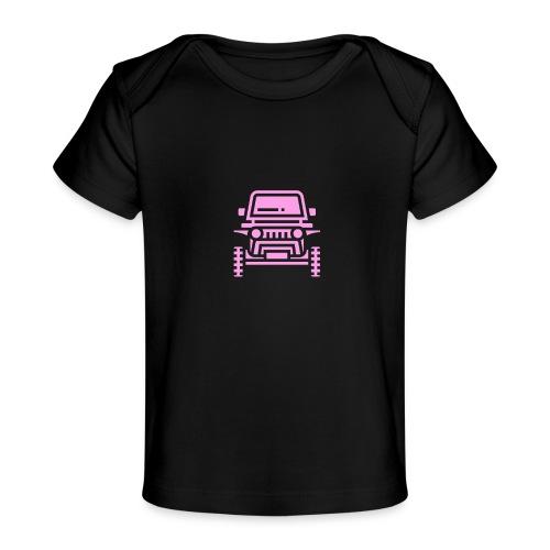 Outdoors pink car jeep - Ekologiczna koszulka dla niemowląt