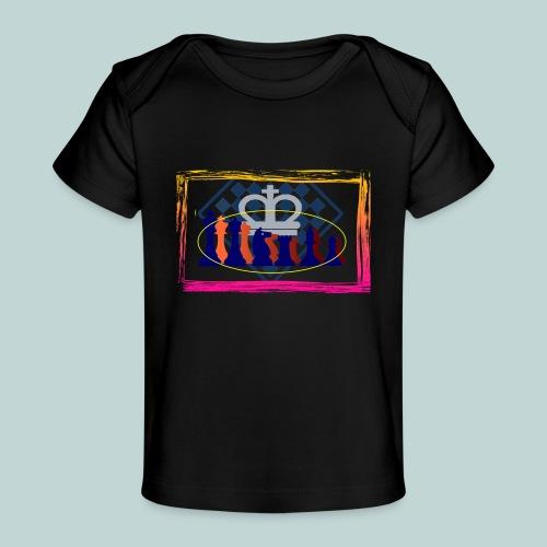 figurensatz_vor_brett - Baby Bio-T-Shirt