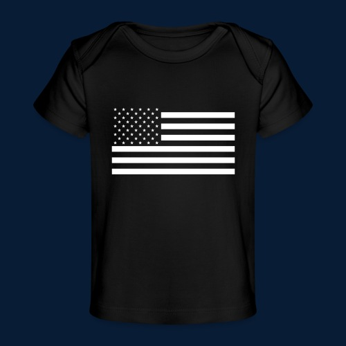 Stars and Stripes White - Baby Bio-T-Shirt