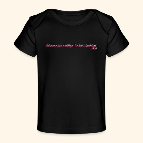Gay wedding - Ekologiczna koszulka dla niemowląt