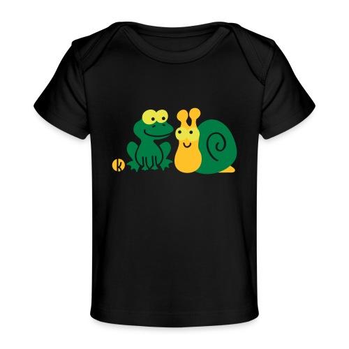 Frosch und Schnecke (c2) Freundschaft - Baby Bio-T-Shirt