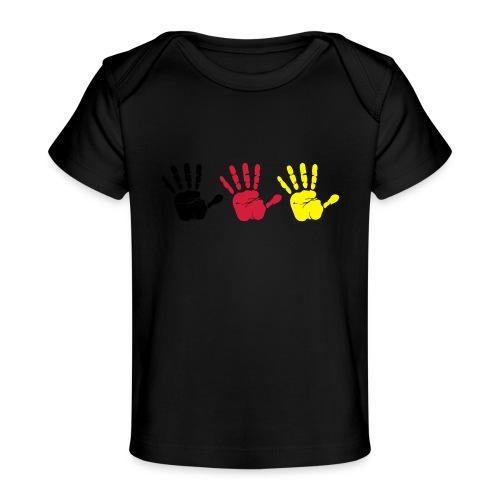 Handabdruck Trio - Baby Bio-T-Shirt