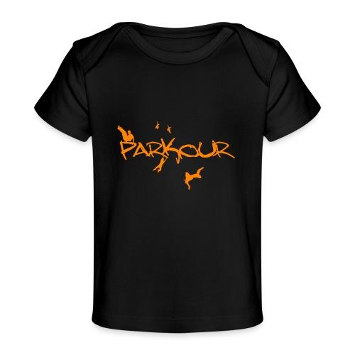Parkour Orange - Økologisk T-shirt til baby