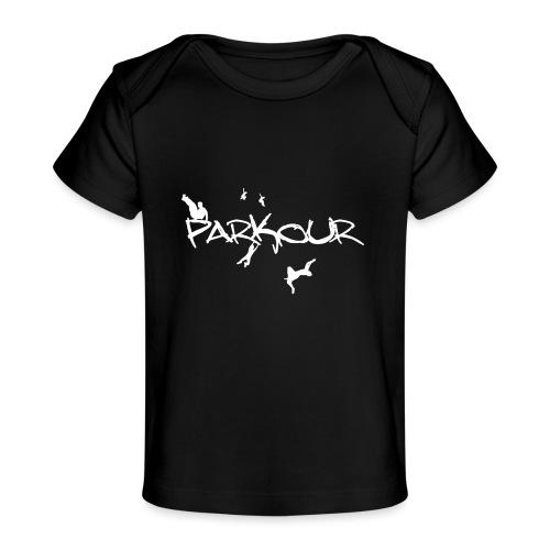 Parkour White Print - Økologisk T-shirt til baby