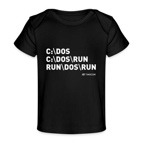 Run DOS Run - Økologisk T-shirt til baby