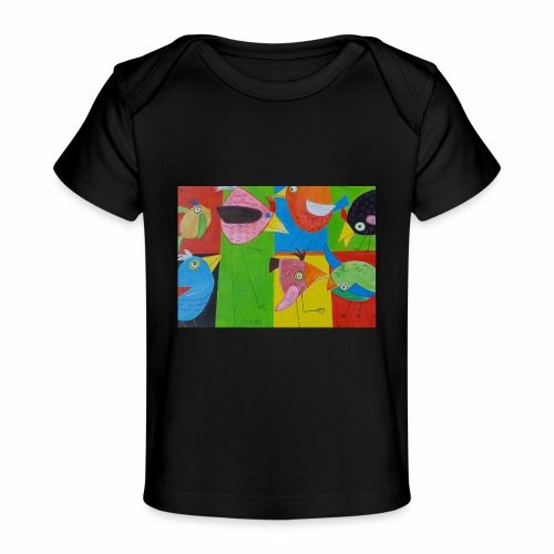 Lovebirds - Liebesvögel - Baby Bio-T-Shirt