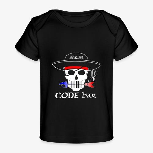 Code Bar white - T-shirt bio Bébé