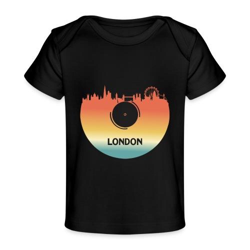 London Skyline Vinyl Schallplatte London Souvenir - Baby Bio-T-Shirt