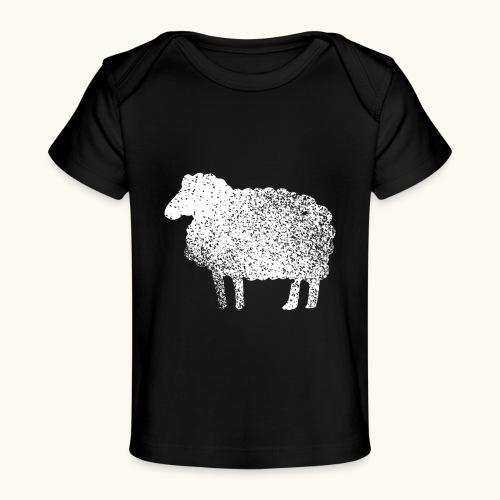 Lustiges Schaf Silhouette Grunge Geschenk Schäfer - T-shirt bio Bébé