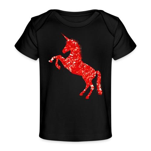 unicorn red - Ekologiczna koszulka dla niemowląt