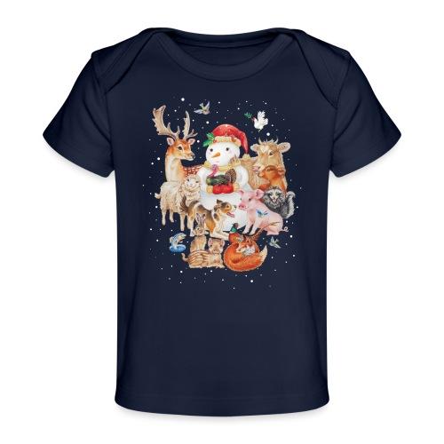 winter animals - Organic Baby T-Shirt