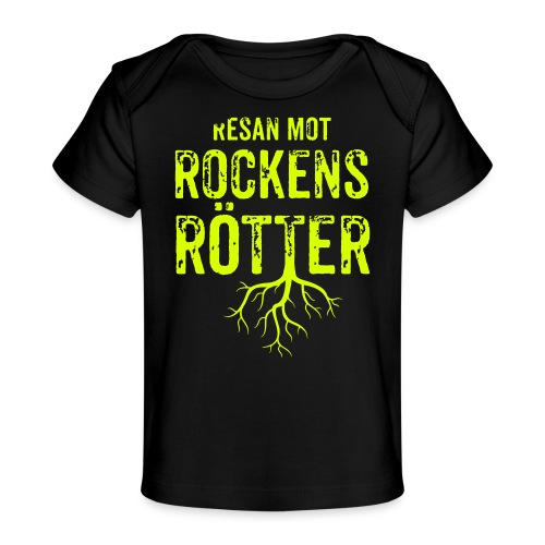 Fotbollströja svart. Resan mot rockens rötter. - Ekologisk T-shirt baby