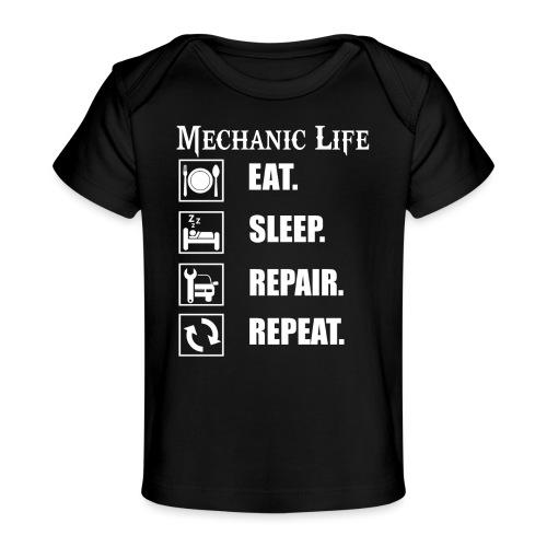 Das Leben als Mechaniker ist hart! Witziges Design - Baby Bio-T-Shirt