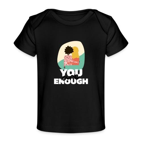 t shirt design template featuring two women suppor - Camiseta orgánica para bebé