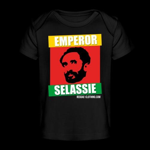EMPORER SELASSIE red gold green - Baby Bio-T-Shirt