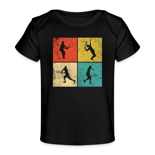 Tennis Tennisspieler Retro Geschenk - Baby Bio-T-Shirt