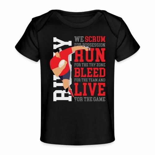 MarPlo Scrum Run Live Red - Maglietta ecologica per neonato