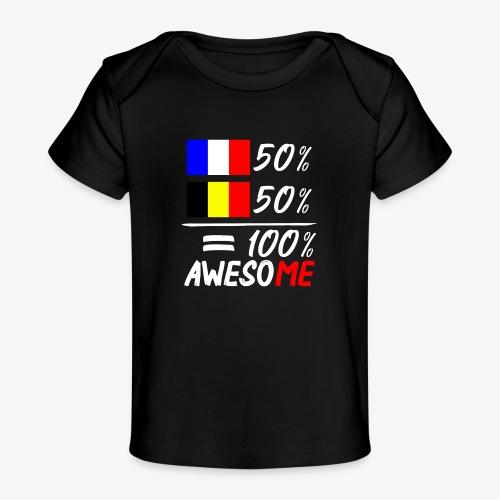 50% Frankreich 50% Belgien - Baby Bio-T-Shirt
