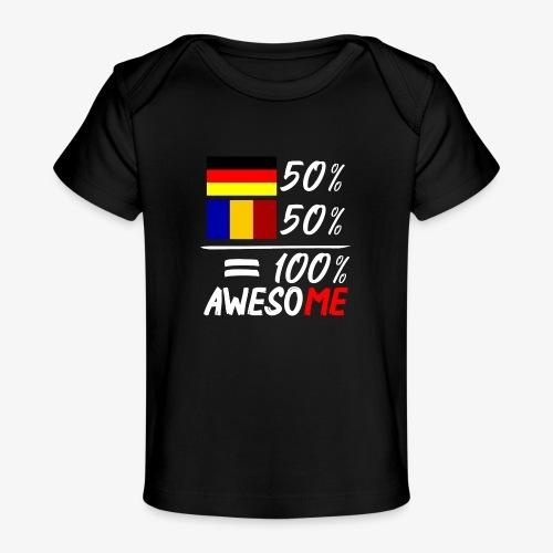 50% Deutsch 50% Rumänisch - Baby Bio-T-Shirt