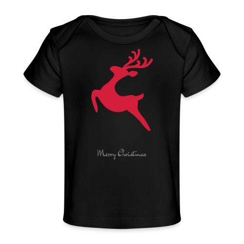Caribou 8, Merry Christma - T-shirt bio Bébé