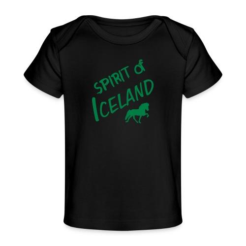 4gaits ruecken - Baby Bio-T-Shirt