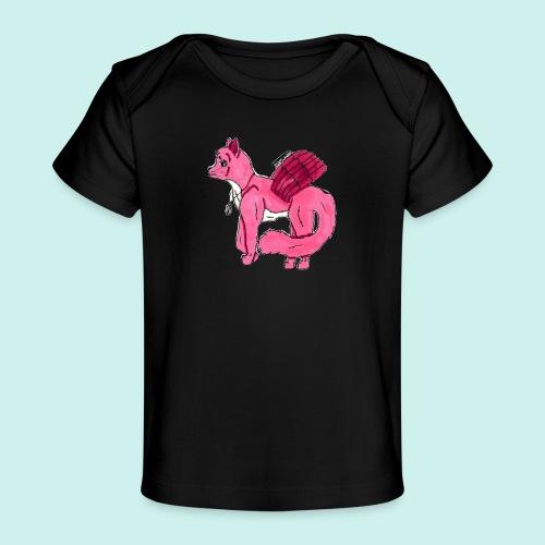pink_cat_ei_taustaa - Vauvojen luomu-t-paita