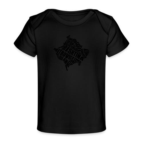 Kosovo Land mit allen Städten - Baby Bio-T-Shirt