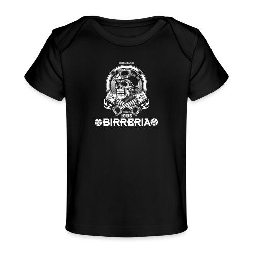 Biker Skull Piston - Baby Bio-T-Shirt