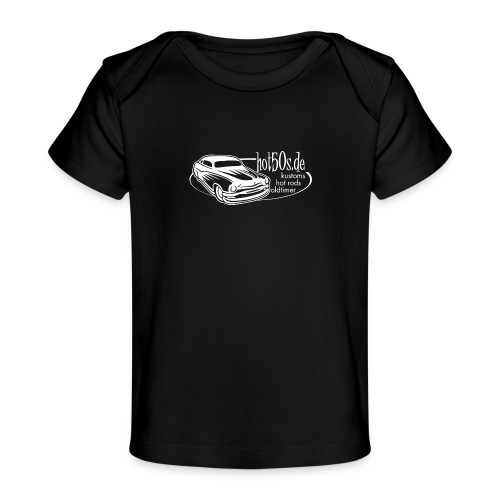 hot50s Logo weiss - Baby Bio-T-Shirt