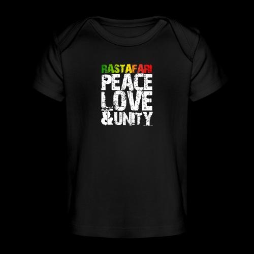 RASTAFARI - PEACE LOVE & UNITY - Baby Bio-T-Shirt