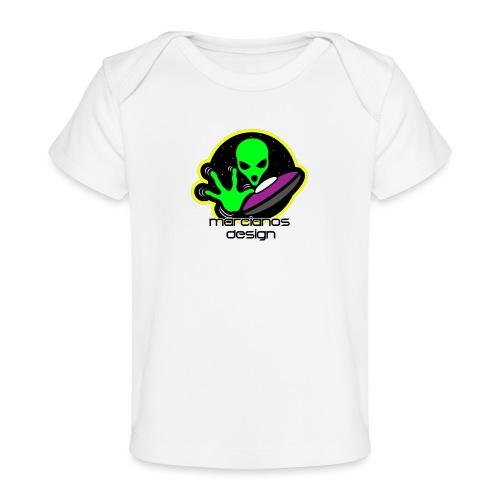 Logo Marcianos - Camiseta orgánica para bebé