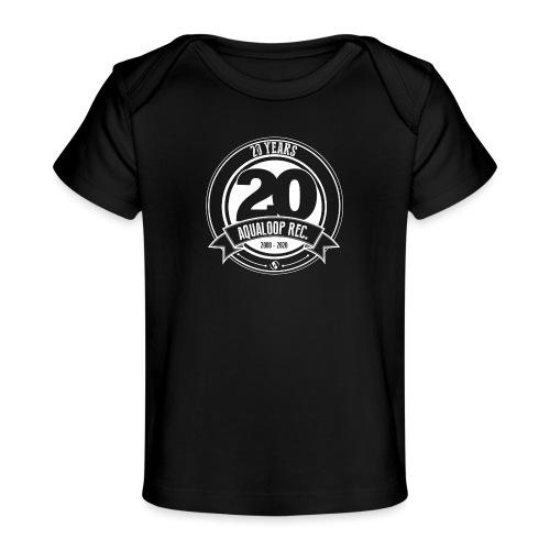20 Years Aqualoop Records (white) - Organic Baby T-Shirt