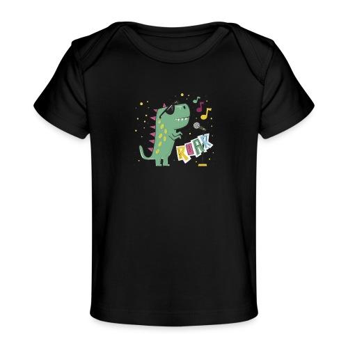 DINO MUSIC 1 - Camiseta orgánica para bebé