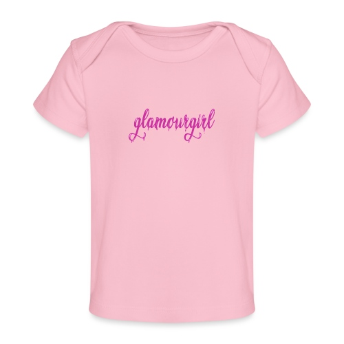Glamourgirl dripping letters - Baby bio-T-shirt