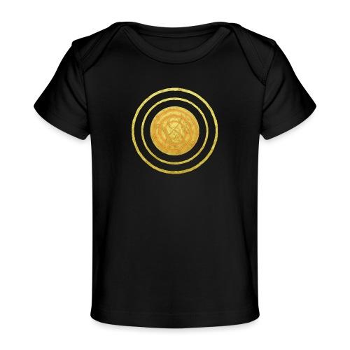 Glückssymbol Sonne - positive Schwingung - Spirale - Baby Bio-T-Shirt