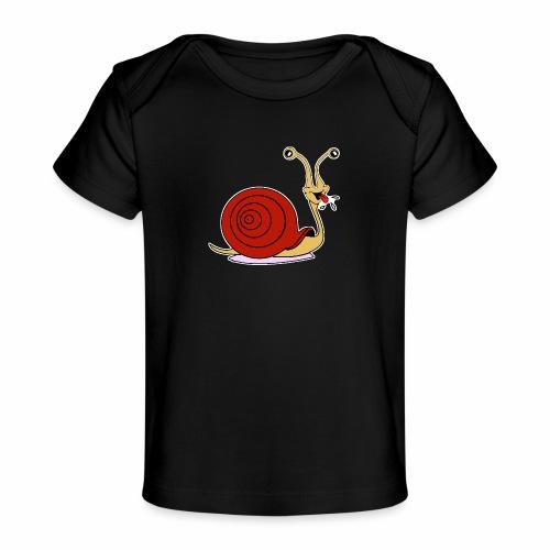 Escargot rigolo red version - T-shirt bio Bébé