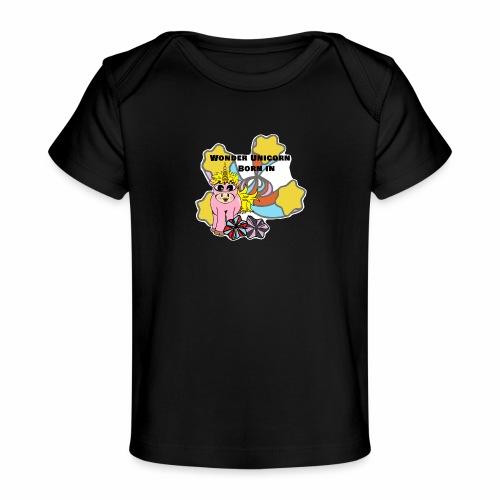 Merveilleuse Licorne née (pour fille) - T-shirt bio Bébé