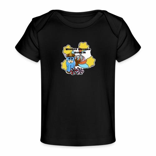 Une merveilleuse licorne est née (pour garcon) - T-shirt bio Bébé