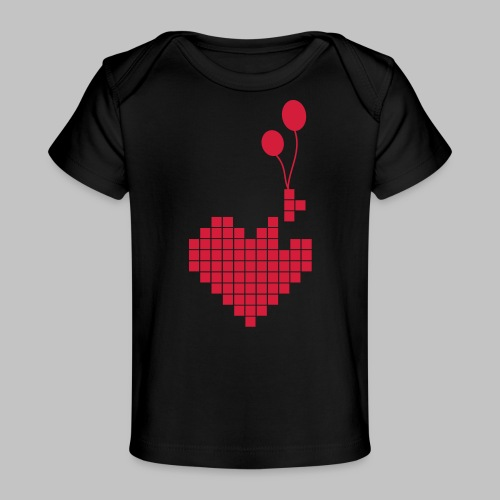 heart and balloons - Organic Baby T-Shirt