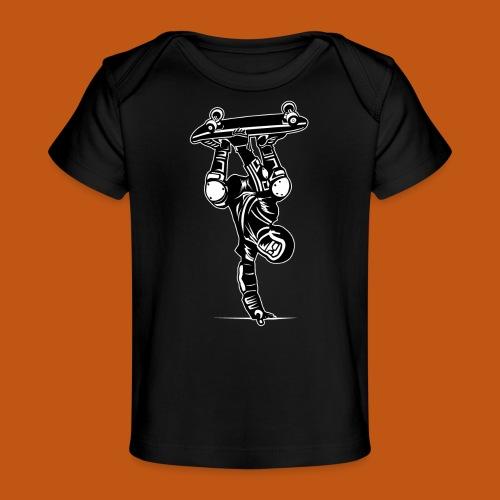 Skater / Skateboarder 02_schwarz weiß - Baby Bio-T-Shirt