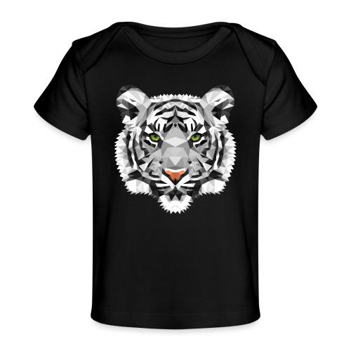 Weißer Tiger Polygon schwanger Babybauch Geschenk - Baby Bio-T-Shirt