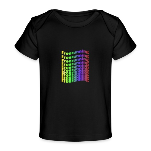Freerunning Rainbow - Økologisk T-shirt til baby