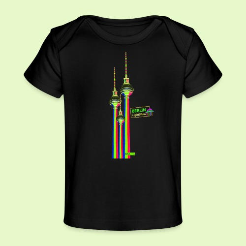 Fernsehturm / BerlinLightShow im Triple-Look - Baby Bio-T-Shirt